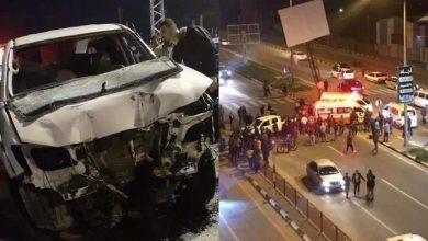 Photo of حادث سير مروع على شارع صلاح الدين وسط قطاع غزة