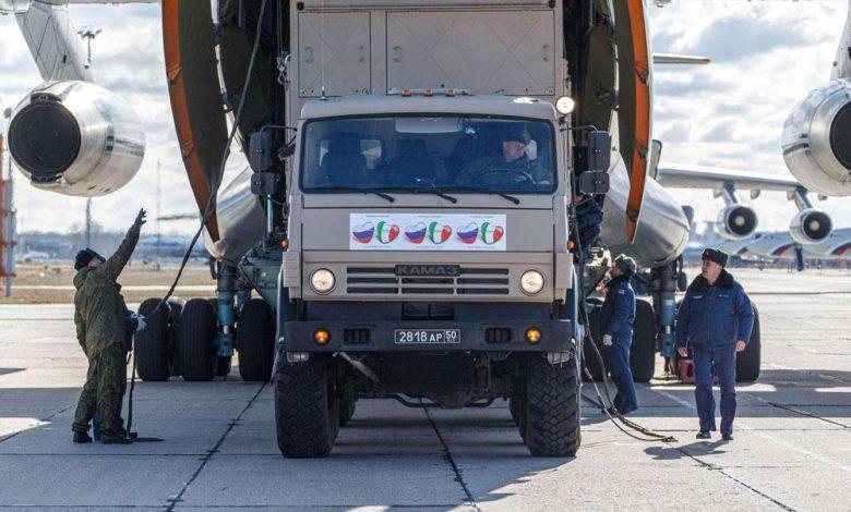 روسيا تقدم المساعدة لإيطاليا