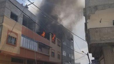 Photo of مسلسل الحرائق مستمر .. بالصور حريق كبير بمنزل شمال قطاع غزة