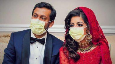 Photo of عروسان أميركيان يقضيان شهر العسل في مكافحة كورونا